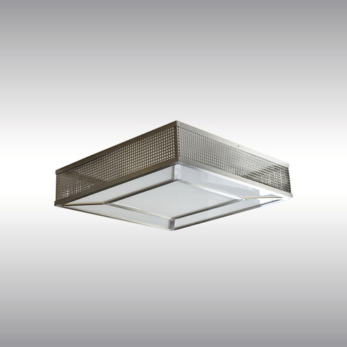 traditional ceiling light / square / glass / LED