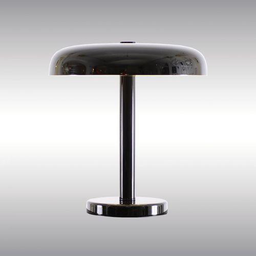 table lamp / Bauhaus design / brass / silver