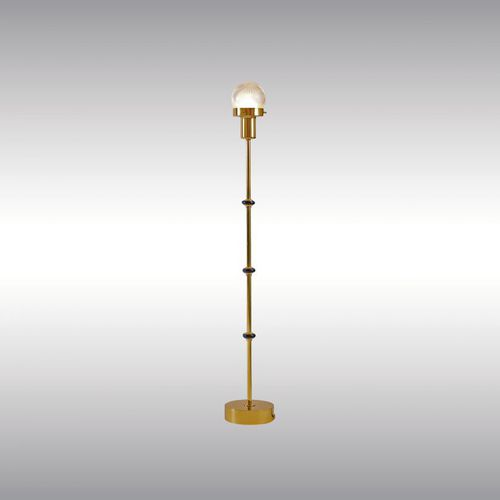 table lamp / traditional / brass / optical glass
