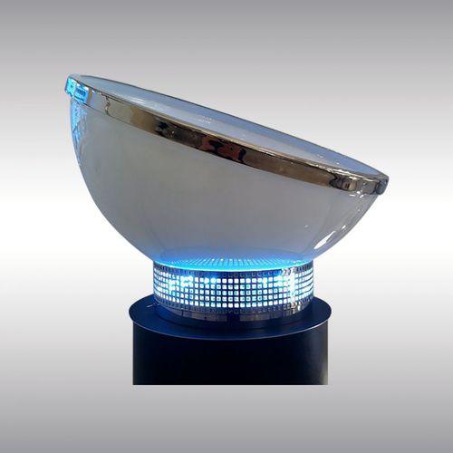 table lamp / original design / glass / blown glass