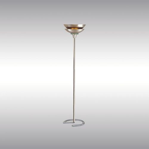 floor-standing lamp / Bauhaus design / brass / crystal