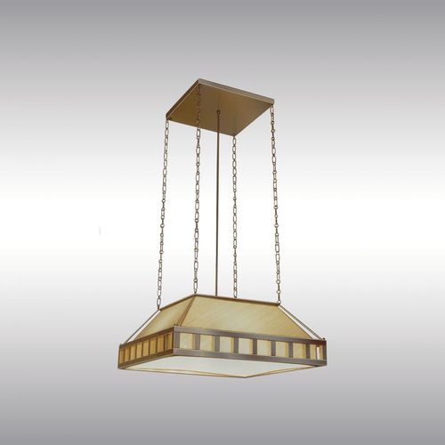pendant lamp / traditional / brass / glass