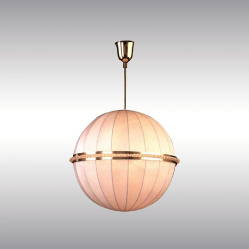 pendant lamp / traditional / brass / crystal