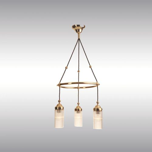 traditional chandelier / crystal / brass