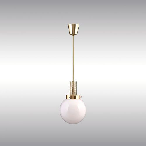 pendant lamp / traditional / brass / blown glass