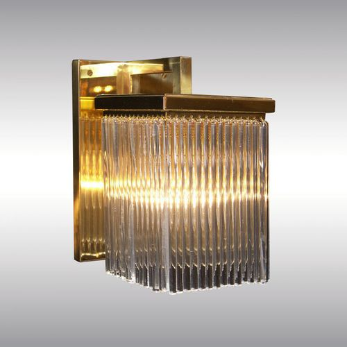traditional wall light / brass / crystal / LED