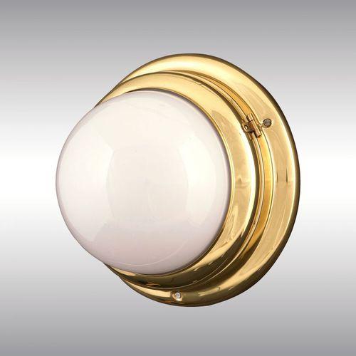 traditional wall light / brass / glass / blown glass