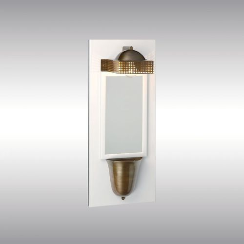 traditional wall light / brass / nickel / wooden