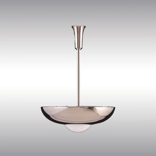 traditional ceiling light / brass / blown glass / LED