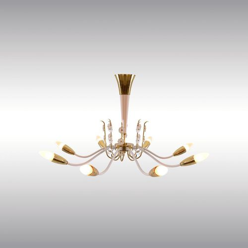 contemporary chandelier / crystal / wooden