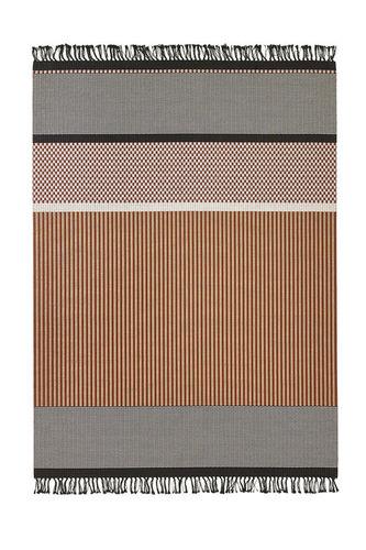 contemporary rug / striped / paper yarn / rectangular