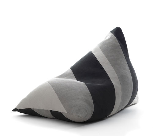 original design bean bag / cotton / paper yarn / with removable cover