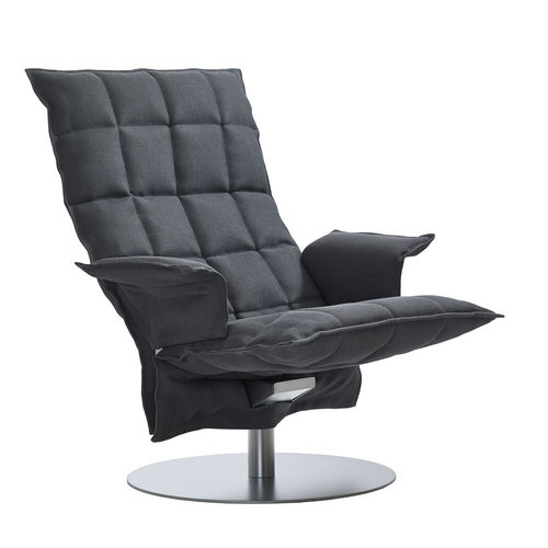 contemporary chair / with removable cover / swivel / upholstered