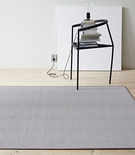 contemporary rug / plain / cotton / paper yarn