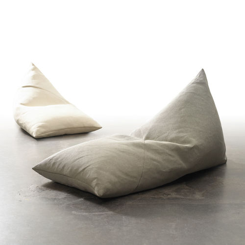 contemporary bean bag / cotton / paper yarn / with removable cover