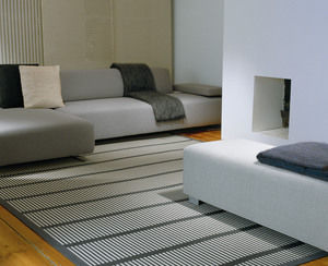 contemporary bench / fabric / upholstered
