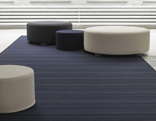contemporary pouf / fabric / round