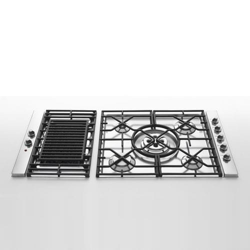 Gas Cooktop Outdoor Kitchen Cart Alpes Inox With Grill Cast Iron Stainless Steel