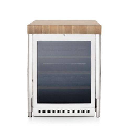 undercounter wine cabinet / stainless steel