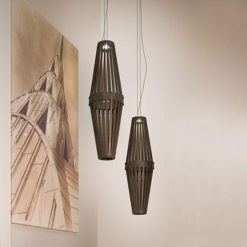 pendant lamp / contemporary / oak