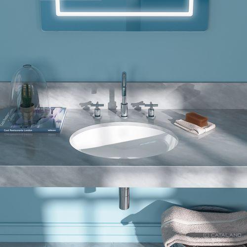 undercounter washbasin / oval / ceramic / contemporary