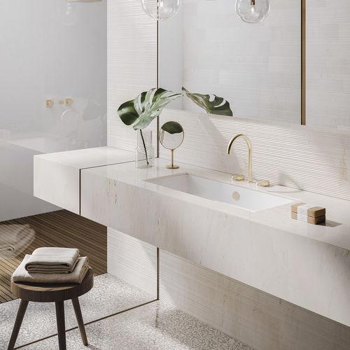 undercounter washbasin / rectangular / ceramic / contemporary