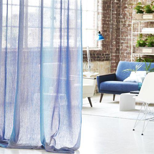 plain sheer curtain fabric / washable / weave / translucent