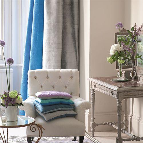 upholstery fabric / for curtains / plain / silk