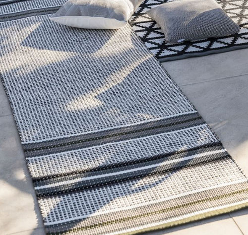 runner rug / contemporary / patterned / polyester