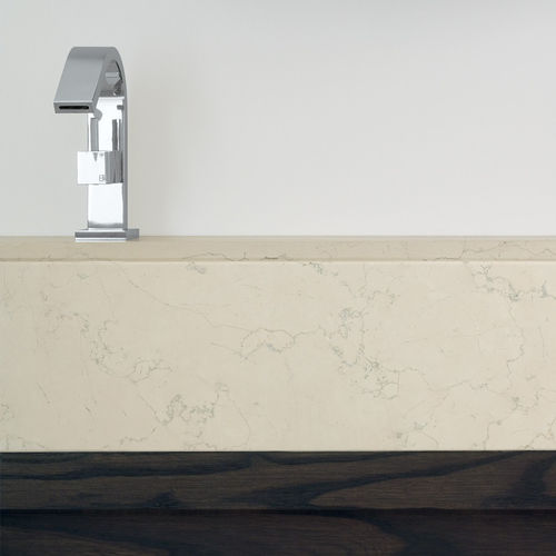 countertop washbasin / rectangular / stone / contemporary