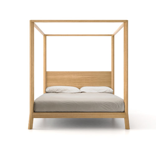 canopy bed / double / contemporary / wooden