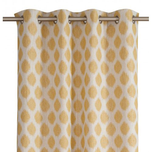 patterned curtain / eyelet / cotton / linen