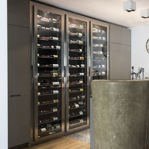 built-in wine cabinet