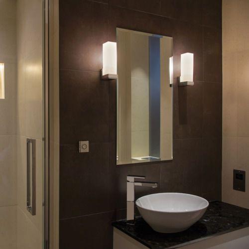 Contemporary Wall Light Taketa 0775 Astro Bathroom Metal Glass
