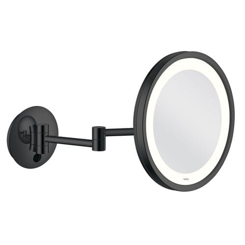 wall-mounted bathroom mirror / LED-illuminated / contemporary / round