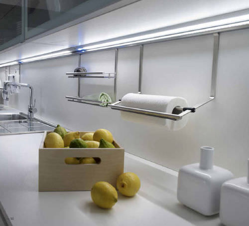 surface-mounted light fixture / LED / linear / for furniture
