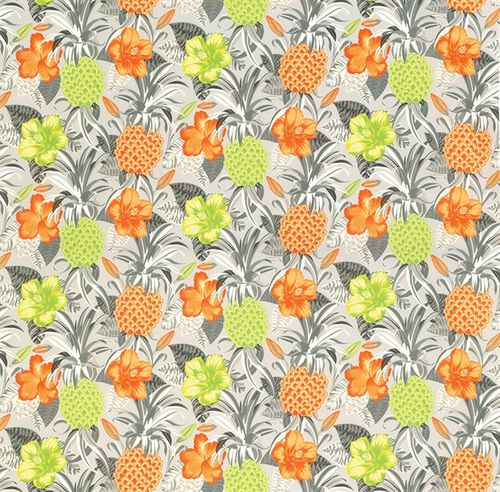 upholstery fabric / for curtains / floral pattern / polyester