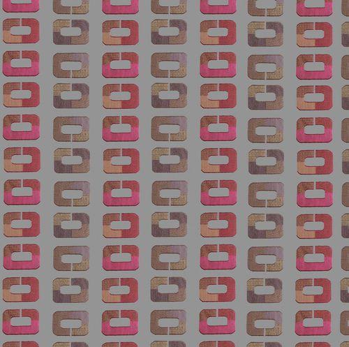 patterned sheer curtain fabric / Trevira CS® / home