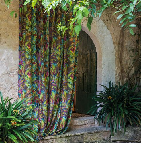 curtain fabric / nature pattern / polyester / cotton