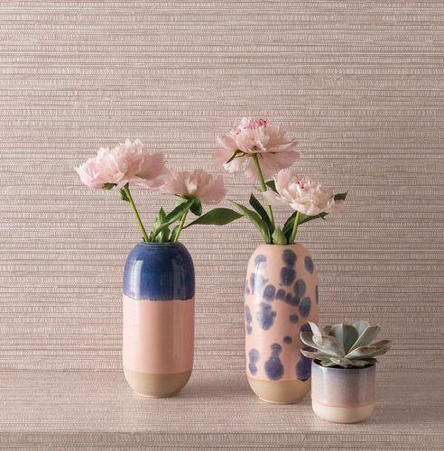 contemporary wallpaper / striped / gray / blue