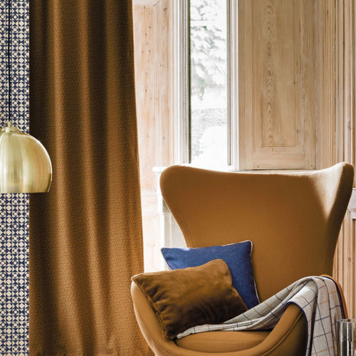 upholstery fabric / for curtains / geometric pattern / wool