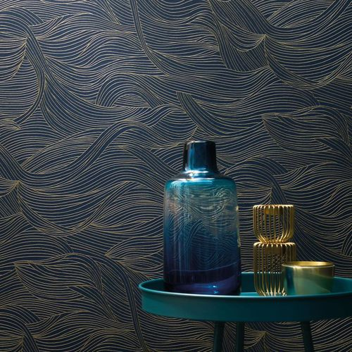 contemporary wallpaper / nonwoven fabric / patterned / gray