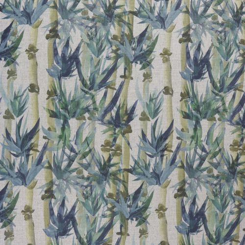 upholstery fabric / floral pattern / linen / viscose
