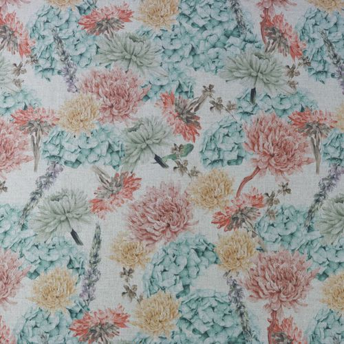 upholstery fabric / for curtains / floral pattern / linen