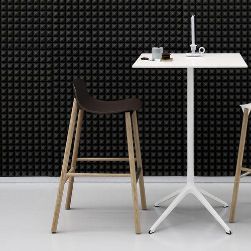 contemporary bar stool / wooden / aluminum / outdoor