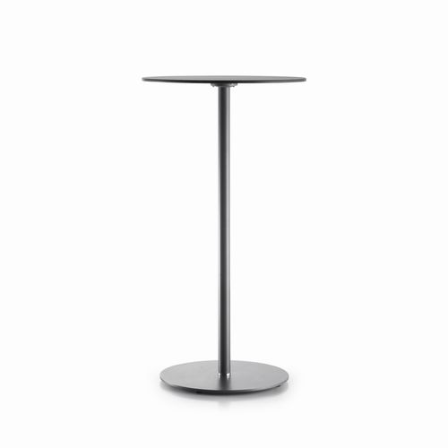 contemporary high bar table / steel / crystal / round