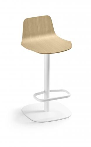contemporary bar stool / fabric / oak / plywood