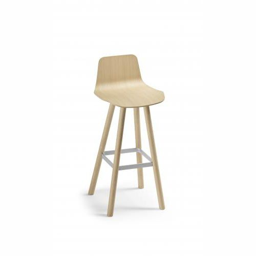 contemporary bar stool / fabric / oak / beech