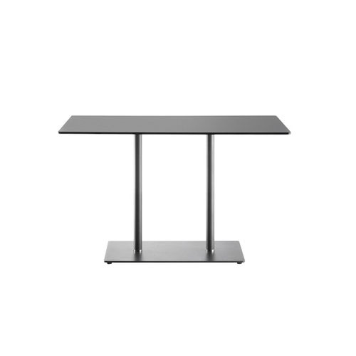 contemporary bistro table / steel / crystal / rectangular