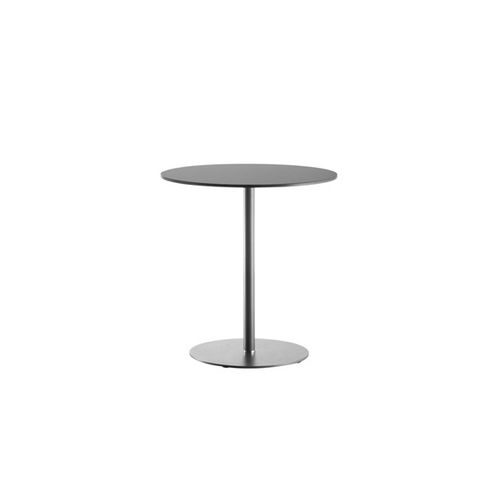 contemporary bistro table / steel / crystal / round